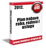 Plan nabave roba, radova i usluga u 2012.g.