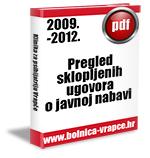 Pregled sklopljenih ugovora o javnoj nabavi 2009. - 2012.g.