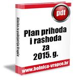 Plan prihoda i izdataka u 2015.g.