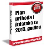 Plan prihoda i izdataka za 2013. godinu